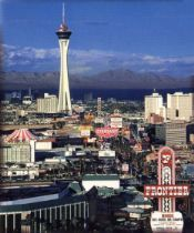 Stratosphere and Vegas Skyline